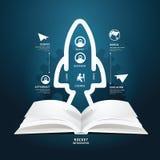 Стиль графиков данным по диаграммы книги творческой отрезанный бумагой космический Стоковые Изображения RF