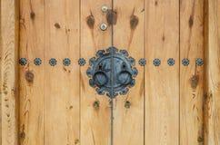 Стиль деревянной двери корейский Стоковая Фотография RF