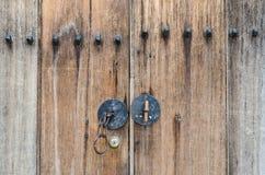 Стиль деревянной двери корейский Стоковая Фотография