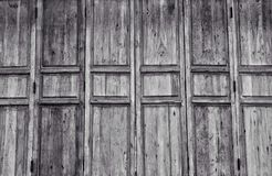 Стиль деревянной двери черно-белый Стоковые Фото