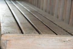 Стиль деревянной скамьи винтажный Стоковая Фотография