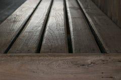 Стиль деревянной скамьи винтажный Стоковое Изображение RF
