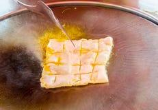 Стиль десерта зажаренного roti Стоковая Фотография RF