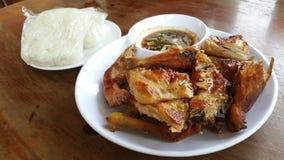 Стиль жареного цыпленка тайский Стоковое фото RF