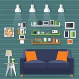 Стиль живущей комнаты современный Стоковые Изображения