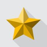 Стиль золотой звезды плоский Стоковые Фотографии RF