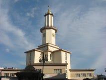 Стиль здание муниципалитета и часов западный Стоковые Изображения