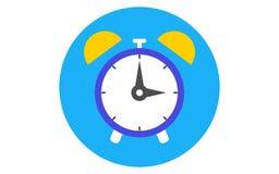 Стиль дизайна lat значка будильника Силуэт часов икона просто Современный плоский значок в стильных цветах Иллюстрация вектора