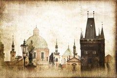Стиль Карлова моста винтажный, Прага Стоковые Фотографии RF