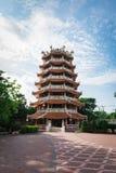 Стиль китайского дизайна здания азиатский Стоковая Фотография