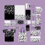 Стиль корпоративного бизнеса иллюстрация конструкции карточки предпосылки фона флористическая Стоковое Изображение