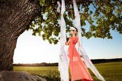 Стиль красоты лета Стоковое Фото