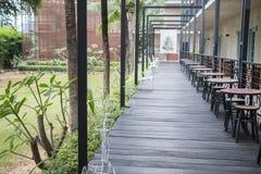 Стиль курорта коридора гостиницы внешний Стоковые Изображения RF