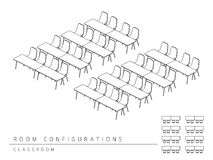 Стиль класса конфигурации плана установки конференц-зала Стоковые Фото