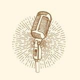 Стиль микрофона винтажный Стоковые Изображения RF