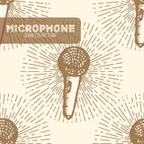 Стиль микрофона винтажный Стоковое Фото