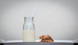 Стиль молока и печений винтажный Стоковые Изображения