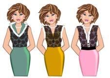 Стиль моды женщины иллюстрация штока
