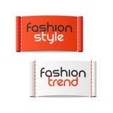 Стиль моды и тенденция моды ярлыки иллюстрация штока