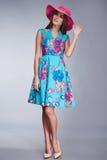 Стиль моды собрания каталога состава одежды женщин Стоковое фото RF
