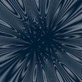 Стиль муара, картина градиента оптически, влияние движения Стоковые Фото