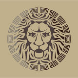 Стиль логотипа льва винтажный Стоковые Изображения