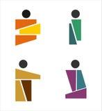 Стиль логотипов потребителя иллюстрация вектора