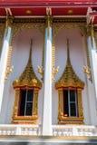 Стиль окон виска винтажный тайский стоковая фотография rf