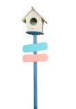 Стиль домашнего почтового ящика ретро винтажный сделанный от деревянного изолированного корабля на белой предпосылке Стоковые Фото