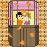 Стиль осени 2008 листьев листьев рощи сухого падения осени воздуха золотистых около дуба России -го октября поворачивают которые  стоковая фотография