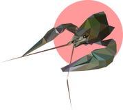 Стиль полигона Карциномы Иллюстрация моды тенденции в стиле Стоковые Изображения RF