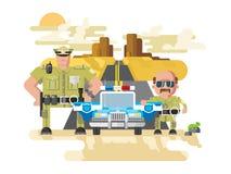 Стиль полиции Техаса плоский иллюстрация вектора