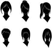 стиль причёсок женщины Стоковое Изображение
