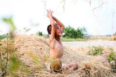 Стиль причёсок мальчика тайский старый Стоковые Фотографии RF