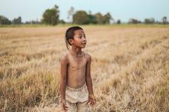 Стиль причёсок мальчика тайский старый Стоковые Изображения