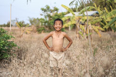 Стиль причёсок мальчика тайский старый стоковое изображение