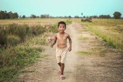 Стиль причёсок мальчика тайский старый Стоковое Фото