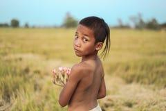 Стиль причёсок мальчика тайский старый Стоковая Фотография