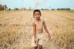 Стиль причёсок мальчика тайский старый Стоковые Изображения RF