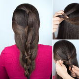 Стиль причёсок переплетенных узлов консультационных Стоковые Изображения RF