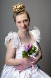 Стиль причёсок свадьбы красоты Стоковое Фото