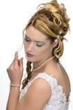 Стиль причёсок свадьбы красоты Стоковое Изображение