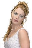 Стиль причёсок свадьбы красоты Стоковые Изображения
