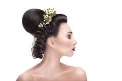 Стиль причёсок 2016 свадьбы Стоковые Изображения RF