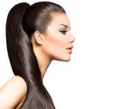 Стиль причёсок Ponytail Стоковые Изображения