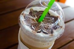 Стиль процесса кофе искусства Latte винтажный Стоковые Фотографии RF