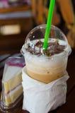 Стиль процесса кофе искусства Latte винтажный Стоковое Фото