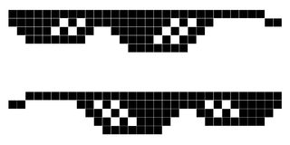 Стиль 8-разрядный, образ жизни искусства пиксела стекел бандита Стоковая Фотография RF