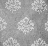 Стиль ретро предпосылки ткани картины шнурка флористической безшовной Monotone винтажный Стоковое Фото