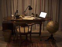 Стиль ретро уютного офиса винтажный Стоковые Изображения